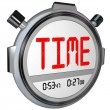 Time Word on Stopwatch Record Your Speed and Acceleration - Stok fotoğraf