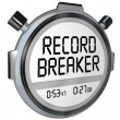 Stock Photo: Record Breaker Stopwatch Timer Clock