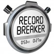 Record Breaker Stopwatch Timer Clock — Stock Photo