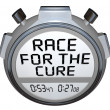 Stock Photo: Stopwatch Timer Race for the Cure Clock Time