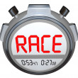 Stopwatch Records Race Time - Fast Racing Event Timer — Stock Photo