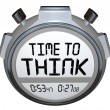 Time to Think Stopwatch Timer Creative Thought — 图库照片