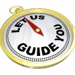 Compass - Let Us Guide You Support and Service - Stock Photo