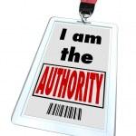 Soy autoridad placa superior conocimiento experto — Foto de Stock   #21848911