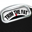 Trim Fat Words on Scale Cut Costs Budget — Stock Photo #21848957
