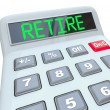 Retire - Plan Your Retirement Savings Calculator — Stock Photo #21848975