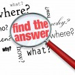 Find Answer - Magnifying Glass — Stock Photo #21849021