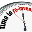 Time to Re-Invent - Clock - Stock Photo
