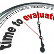 Time to Evaluate Clock Review or Assessment Management — Stockfoto