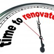 Time to Renovate Clock Countdown to Rebuilding Project - Stock Photo
