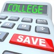 Save for College - Calculator for Education Savings Investment - Stock Photo
