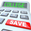 Save for College - Calculator for Education Savings Investment — Foto de Stock