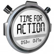 Time for Action Stopwatch Timer Clock Demanding Act — Foto Stock
