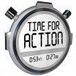 Time for Action Stopwatch Timer Clock Demanding Act — Stock Photo