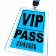 Stock Photo: VIP Pass - Lanyard and Badge