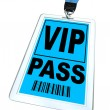 VIP Pass - Lanyard and Badge - Stock Photo