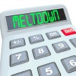 Stock Photo: Meltdown - Financial Budget Problems on Calculator Problem