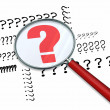 Question Marks - Magnifying Glass — Stock Photo #21849839