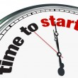Time to Start - Clock Countdown Moment to Begin - Stock Photo