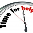 Time for Help Clock Countdown Fundraiser Charity — Stock Photo