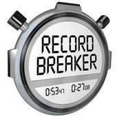 Rekordbrecher Stoppuhr Uhr — Stockfoto