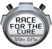 Stopwatch Timer Race for the Cure Clock Time — Foto Stock
