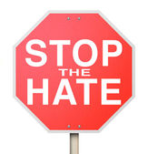 Stop the Hate Sign - End of Intolerance — Stock Photo