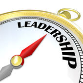 Leadership - Gold Compass Symbol of Leader Taking Charge — Stock Photo