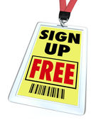 Sign Up Free Badge - Register for Conference or Event — Stock Photo