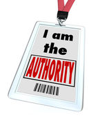 I am the Authority Badge Top Knowledge Expert — Stock Photo
