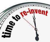 Tijd om opnieuw uitvinden-klok — Stockfoto