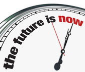 The Future is Now - Ornate Clock — Stock Photo