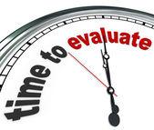评估时钟审查或评估管理时间 — 图库照片