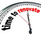 Time to Renovate Clock Countdown to Rebuilding Project — Stock Photo