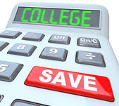Save for College - Calculator for Education Savings Investment — Stock Photo