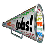 Jobs Bullhorn Megaphone Career Work Employment — Stock Photo