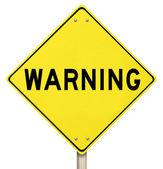 Yellow Warning Sign - Isolated — Stock Photo