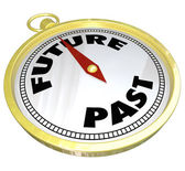 Future Past Compass Lead You to New Opportunity — Stock Photo