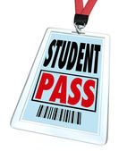 Student Pass in Badge Holder for School Field Trip Special Event — Stock Photo