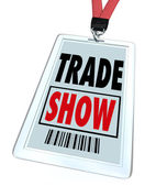 Trade Show Convention Badge Register for Conference or Event — Stock Photo