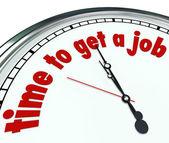 Dags att få ett jobb ord klocka tidsfristen hitta ord — Stockfoto