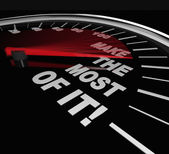 Make the Most of It Speedometer Opportunity Potential — Stock Photo