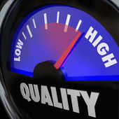 Quality Fuel Gauge Low Improving to High Increase — Stock Photo