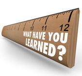 ¿qué has aprendido gobernante recapitulación comentarios — Foto de Stock