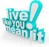 żyć jak ci chodzi to 3d słowa mówiąc — Zdjęcie stockowe