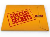 Secrets de succès, remportant les informations classées enveloppe — Photo