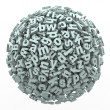 Letter Sphere of Fonts and Typography Reading Learning — Stock Photo #23374976