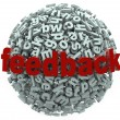 Feedback 3D Sphere Letters Input Comments — Stock Photo #23374996