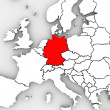 Germany Abstract Map Europe Region German Country European - Stock Photo