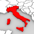 Italy 3d Abstract Map Central Europe Nation — Stock Photo